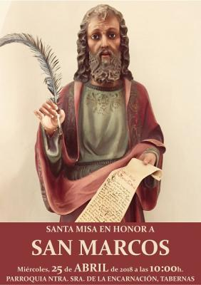 SAN MARCOS EVANGELISTA Y APOSTOL, TABERNAS 2018